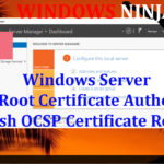 Windows Server - Setup Root Certificate Authority CA wish OCSP Certificate Roles