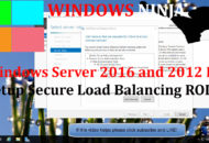 Windows Server 2016 and 2012 R2 - Setup Secure Load Balancing RODC