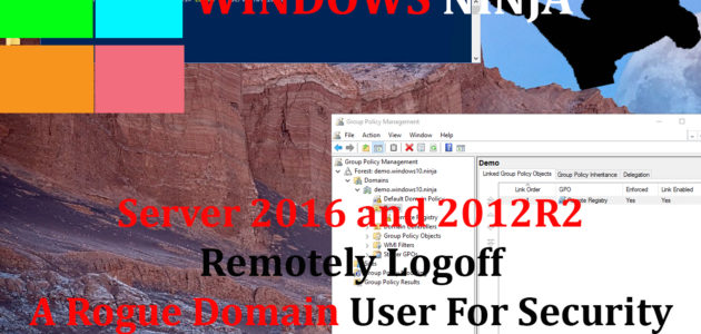 Server 2016 and 2012R2 Remotely Logoff A Rogue Domain User Security